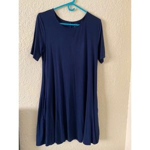 New York and Co. Blue Viscose Dress